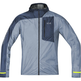 GORE WEAR R7 Windstopper Light Hooded Jacket Men cloudy blue/deep water blue
